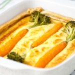 Bunte Möhren Quiche mit Brokkoli
