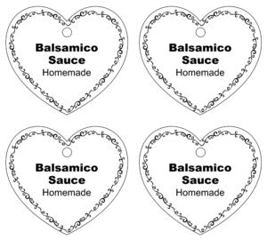 Balsamico Sauce Etikett Download einfach selber machen