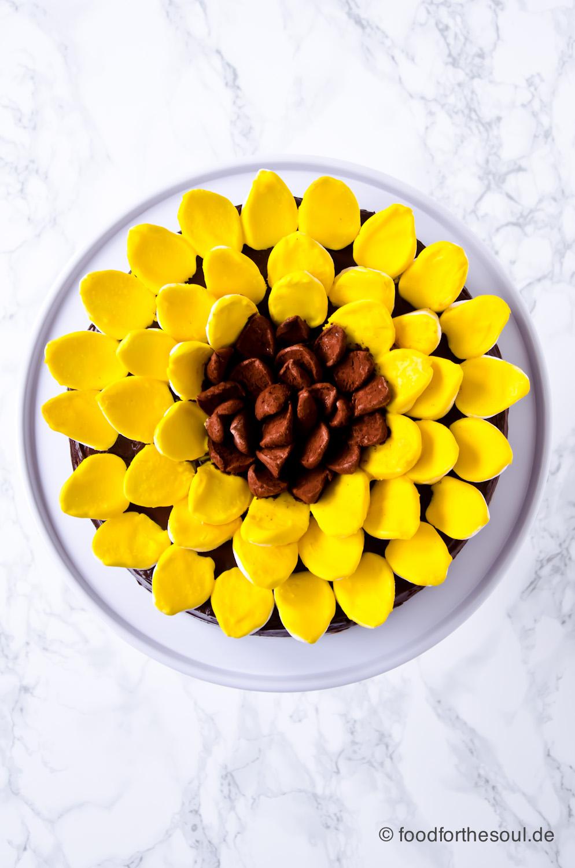 Sonnenblumen Käsekuchen mit Zwieback
