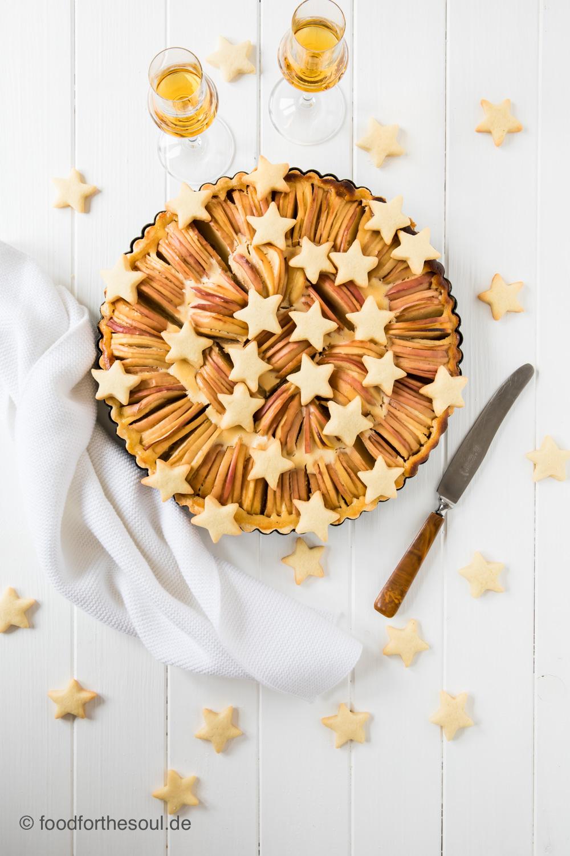 Normannischer Apfelkuchen mit Calvados