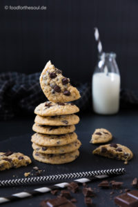 Ein Stapel Chocolate Chip Cookies