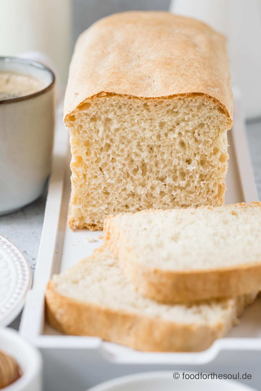 Weißbrot Toastbrot Brot Kastenweißbrot mit Hefe