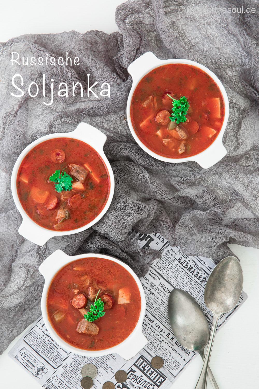 Soljanka mit Fleisch nach Russischem Rezept #soljanka #russisch #rezept #suppe #eintopf #ddr #fleisch #spezialität