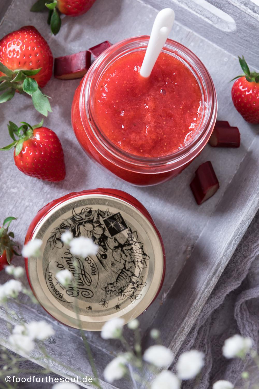 Erdbeer Rhabarber Marmelade mit Wodka Rezept food for the soul