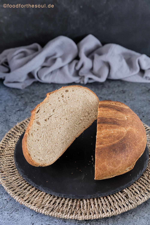 Friss dich dumm Brot backen ohne Topf food for the soul FDD Weizenmischbrot Mischbrot einfach schnell leicht