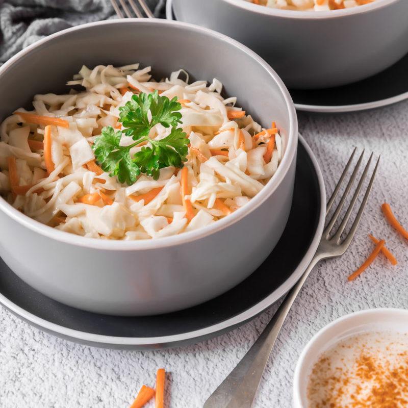 Coleslaw - der amerikanische Klassiker Krautsalat Salat Weißkohl amerikanisch